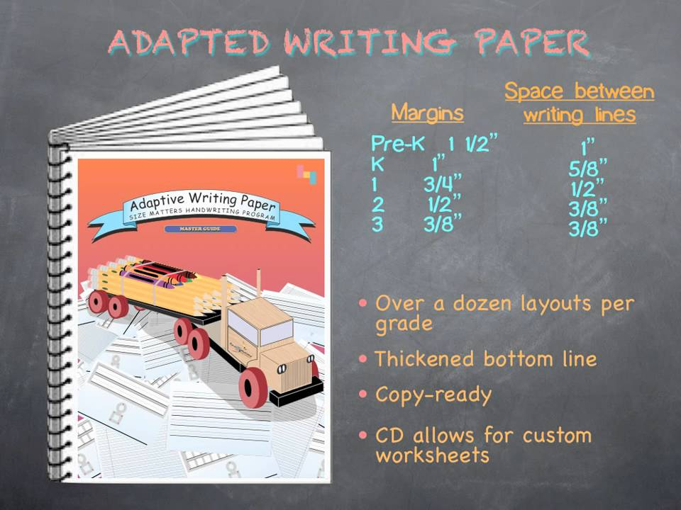 Adapted Writing Paper Master Guide